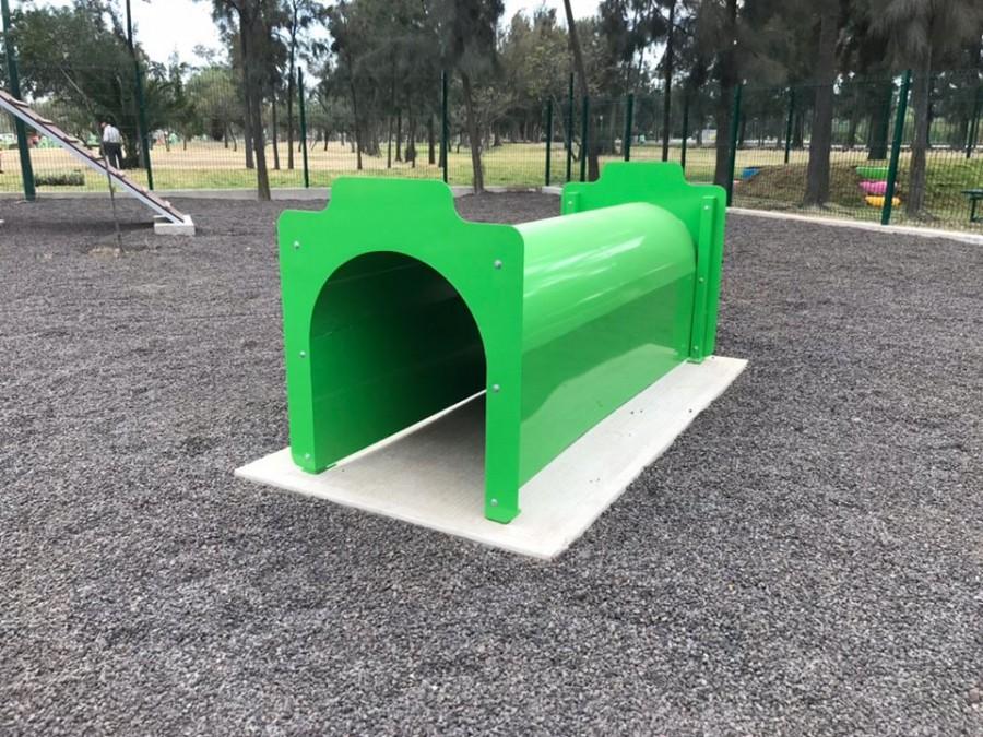 Parque de juegos para mascotas en Bosque de Aragón en la GAM