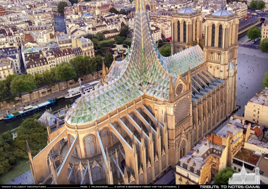 Proyecto Notre Dame de Vincent Callebaut