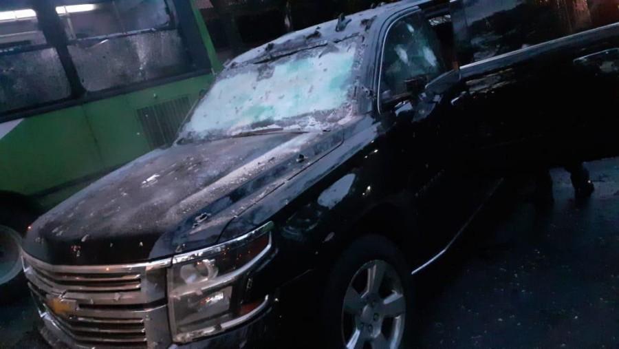 Así quedó la camioneta de García Harfuch tras el atentado