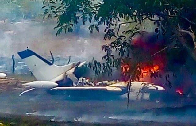 Se desploma avioneta en Veracruz