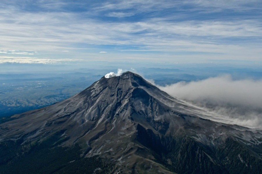 Morfología del cráter del volcán Popocatépetl