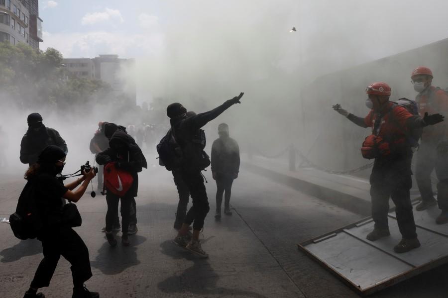 Protestas por Giovanni López y Melanie generan vandalismo