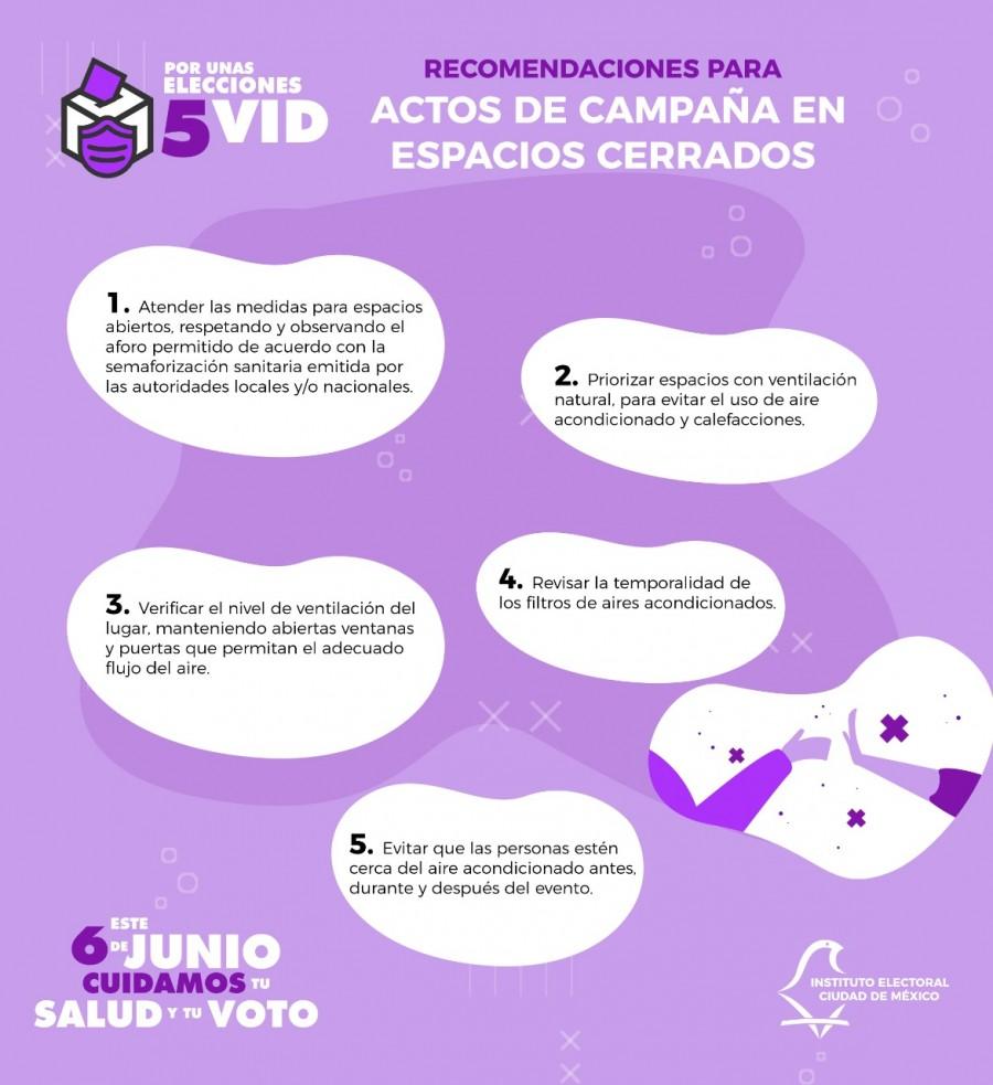 Emite IECM recomendaciones sanitarias para actos de campaña, durante el proceso electoral