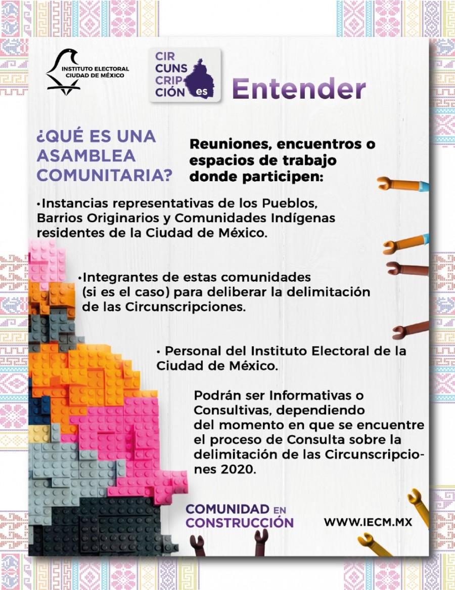 Inician asambleas comunitarias virtuales, sobre delimitación de nuevas circunscripciones