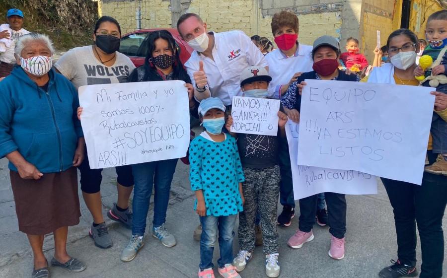 Adrián Rubalcava inicia campaña por Cuajimalpa
