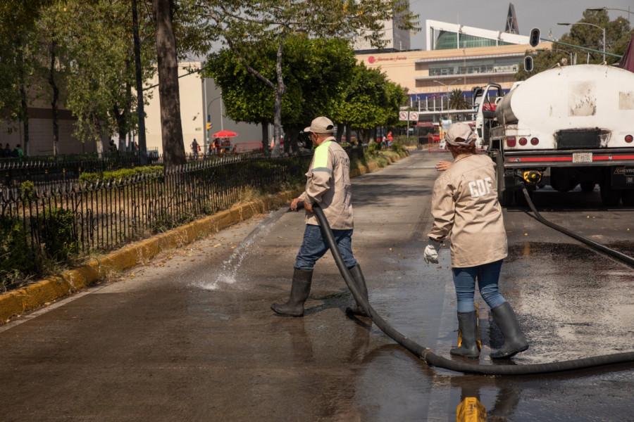 Retiran romería en la Alcaldía Cuauhtémoc
