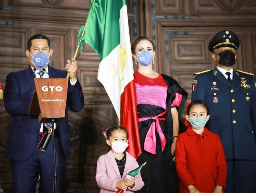 Diego Sinhue preside la ceremonia del 210 aniversario del Inicio de la Lucha por la Independencia