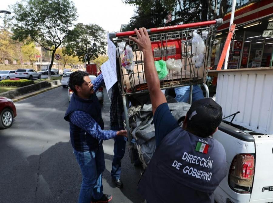 Con ?Vía Libre Polanco?, buscan retirar comercios sin permiso en la Miguel Hidalgo (Galería)