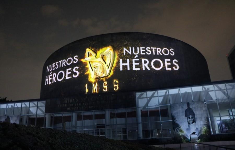 Mural en honor a los héroes del IMSS
