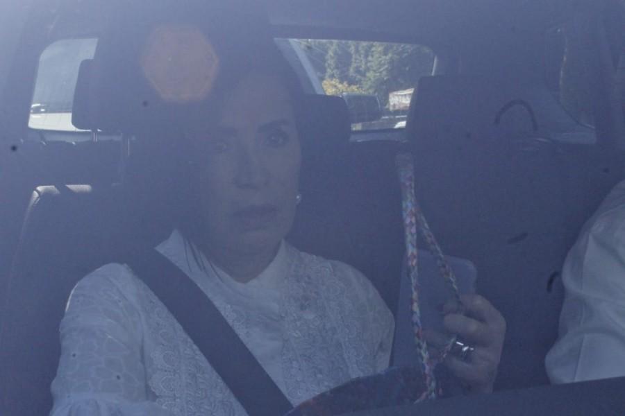 Rosario Robles a su llega al Reclusorio Sur