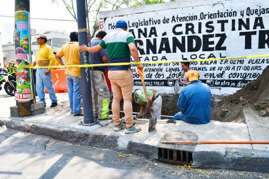 Clausura alcaldía Azcapotzalco túnel de huachicol en el panteón Santa Lucía