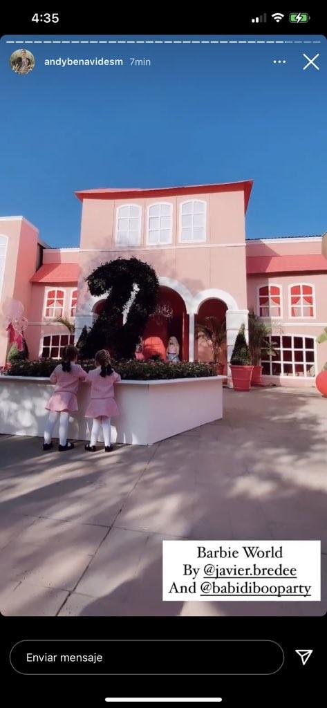 La influencer Andy Benavides, hace megafiesta de Barbie