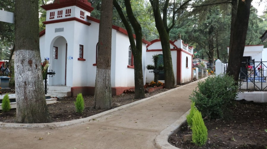 Rehabilitación de panteón El Calvario en Cuajimalpa
