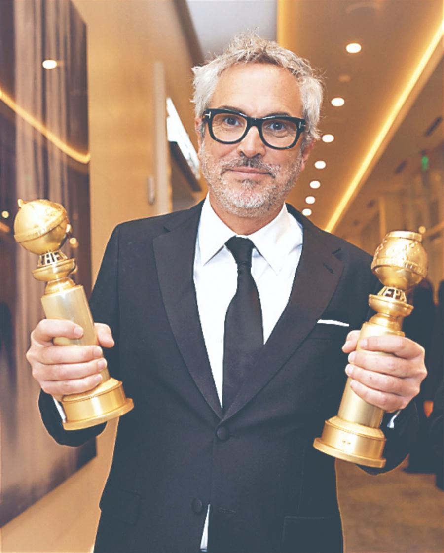 Con 2 Globos de Oro, Roma de Cuarón se encarrila por el Oscar