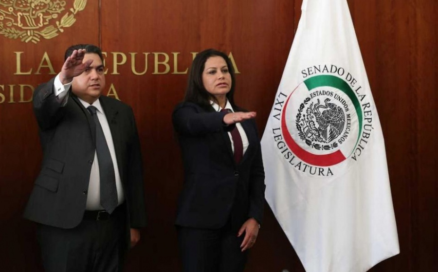 En el Senado, toman protesta a suplentes de Angélica García Arrieta y Rafael Moreno Valle