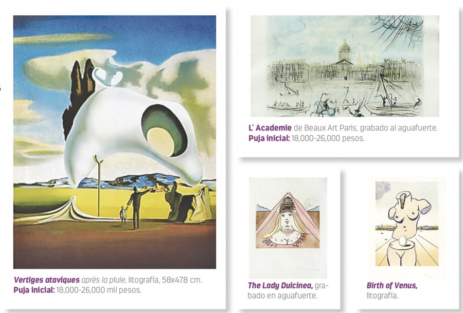 Desde 8 mil pesos venden obras de Dalí que revelan sus fobias
