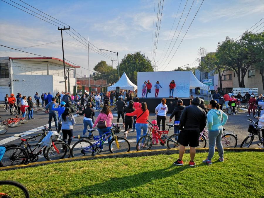 Realizan en Azcapotzalco el primer paseo ciclista