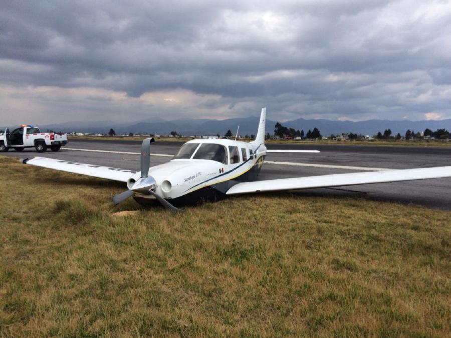 Aeronave se despista y Aeropuerto de Toluca suspende operaciones