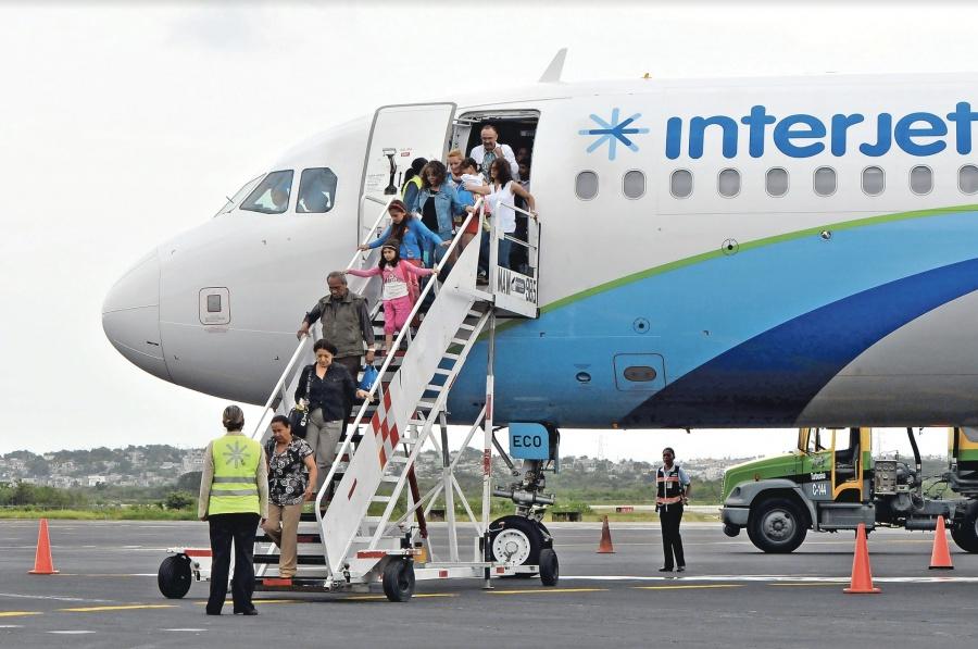 Interjet crece 25.5 por ciento en asientos al extranjero