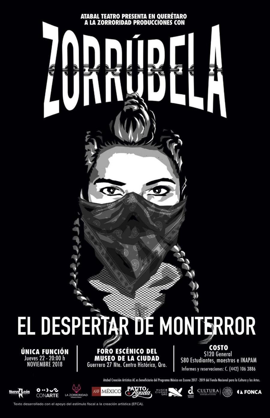 Zorrúbela, el despertar de Monterror, entrada libre