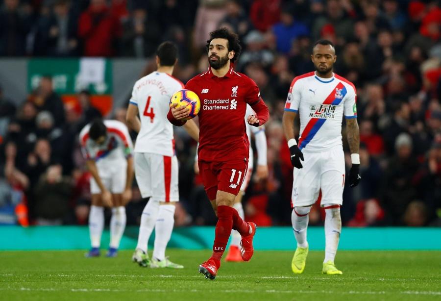 Liverpool y Salah, ganan al Crystal Palace en partidazo