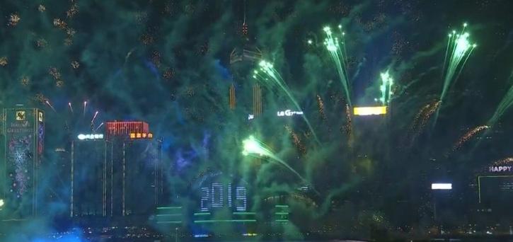 Hong Kong y Corea del Norte, celebran la llegada del 2019