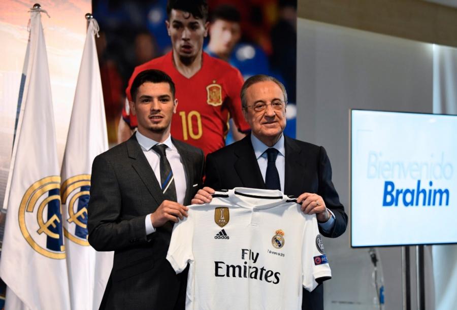 Real Madrid presenta a Brahim Díaz