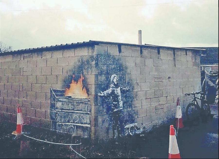 Con mensaje antipolución, Banksy reaparece en Gales