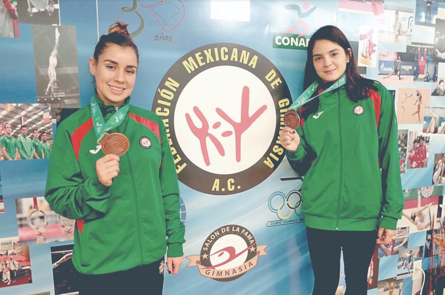 Gimnastas, Dafne y Melissa, felices de haber hecho historia para México