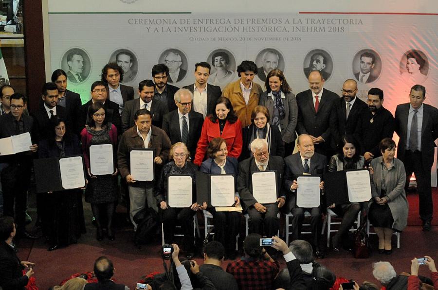 INEHRM entrega premios a la investigación histórica 2018