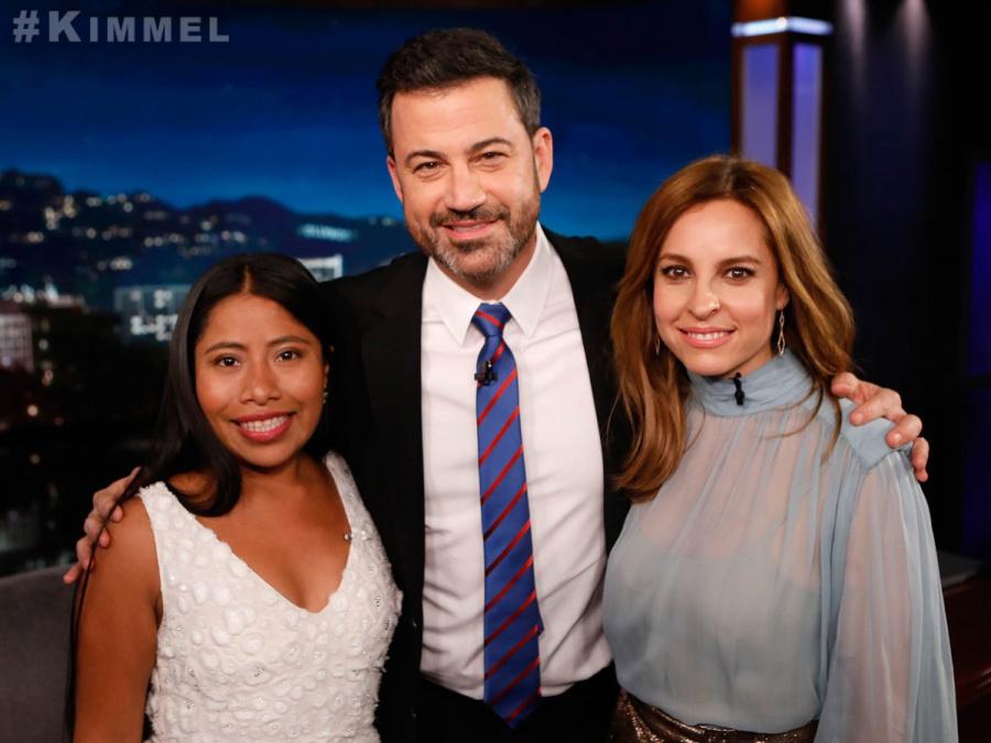 Yalitza Aparicio en el show de Jimmy Kimmel