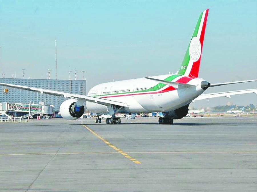 Avión Presidencial ya está en EU para su venta