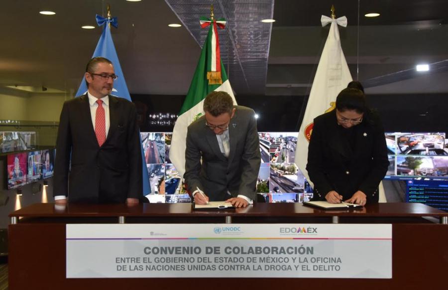 Edomex y la UNODC buscan fortalecer estrategia de seguridad