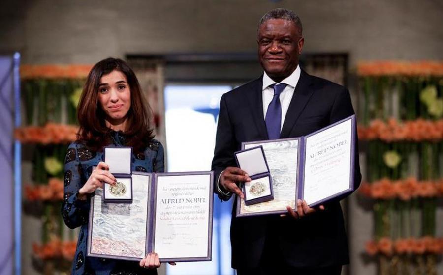 Activistas reciben Nobel de La Paz por lucha contra violencia sexual