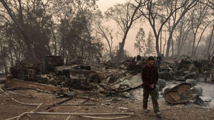 Más de 600 desaparecidos por incendios en California