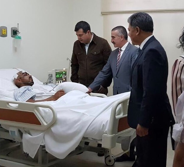 Amieva visita a agente de la PGJ-CDMX, baleado en la Narvarte