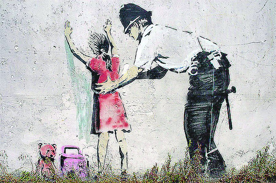 Fallo en máquina arruina la performance a Banksy