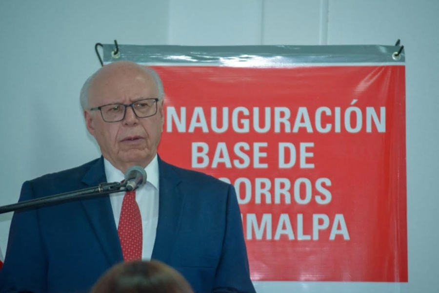 Narro Robles reinaugura Base de Socorros de la Cruz Roja en Cuajimalpa
