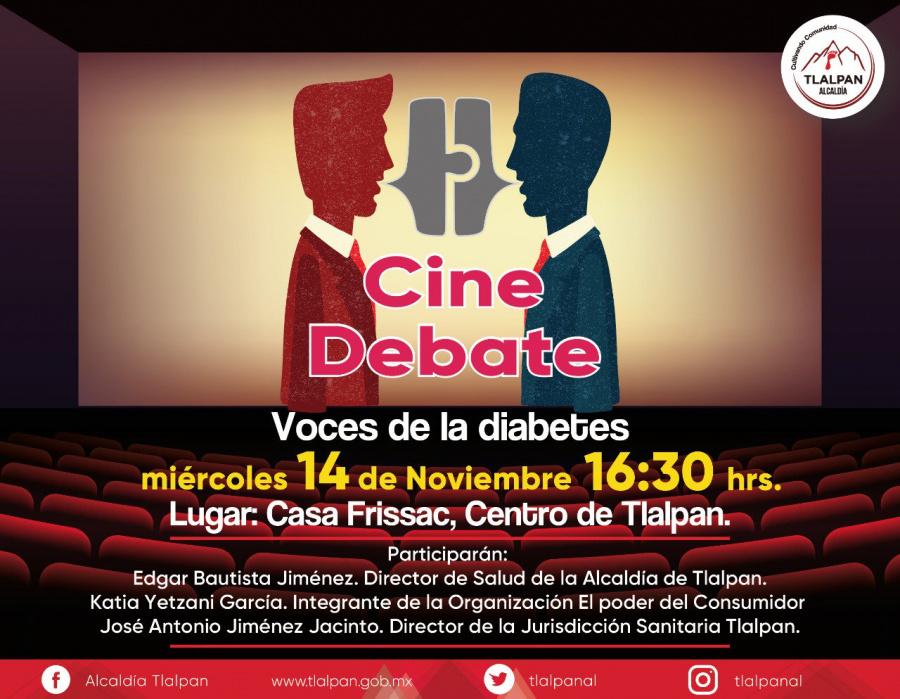 Tlalpan conmemora el Día Mundial de la Diabetes con cine debate