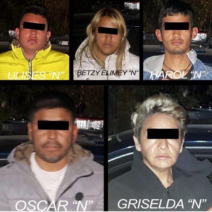 Detienen a probables integrantes de una banda delictiva dedicada al robo de autos en Ecatepec