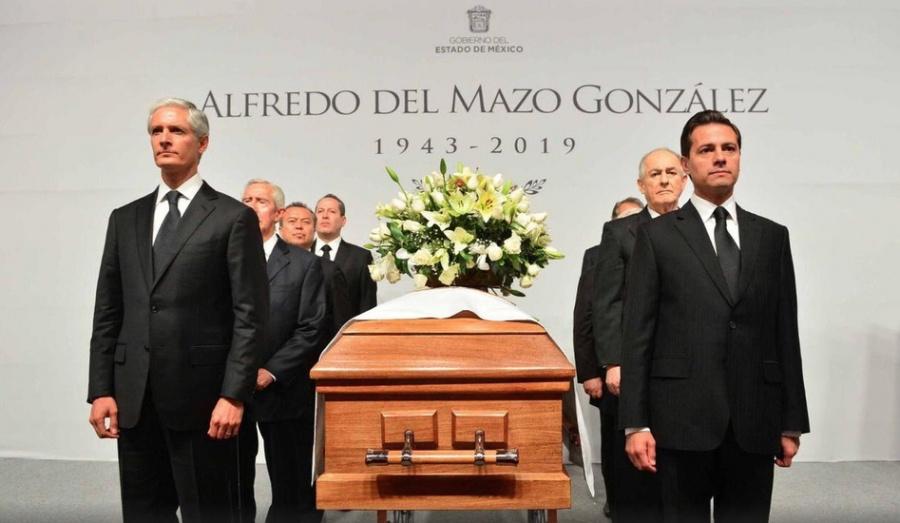 EPN encabeza guardia de honor en funeral de Alfredo del Mazo González