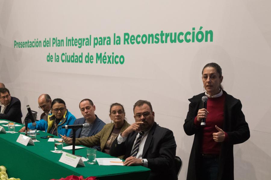 Presentan Plan Integral para la Reconstrucción de la Ciudad de México