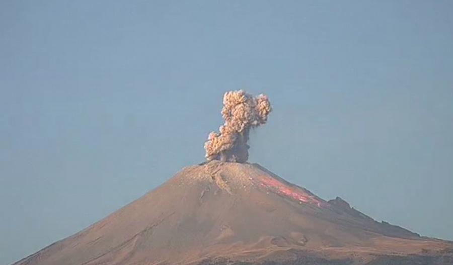 Volcán Popocatépetl registra explosiones en menos de 24 horas