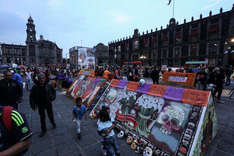 Mañana inicia Megaofrenda de la UNAM en Plaza de Santo Domingo
