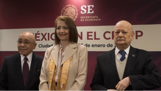La subsecretaria de comercio exterior, Luz María de la Mora, en el Foro Económico Mundial en Davos, Suiza