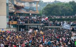 Marcha de estudiantes de Prepa 2 ocasionó un lesionado
