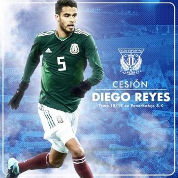 Oficial: Diego Reyes, llega cedido al Leganés