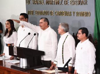 Adán Augusto López Hernández, rinde protesta como Gobernador de Tabasco