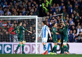 Betis elimina a la Real Sociedad en la Copa del Rey