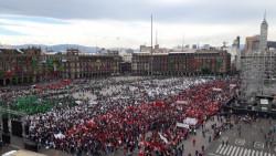 Inicia el arribo de campesinos al Zócalo capitalino